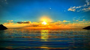 Sunrise landscape render retouches